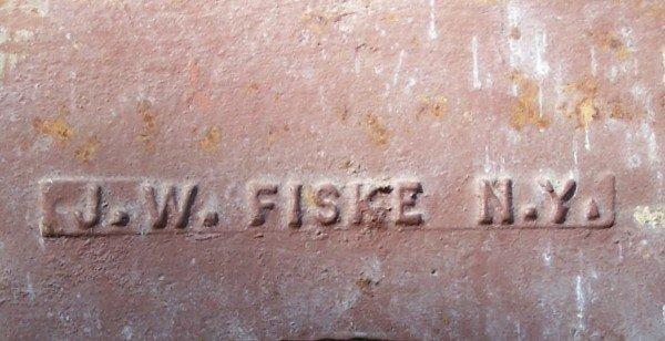 Fountain Signed J.W.Fiske 8ft Tall Cast Iron - 3