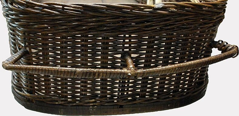 Wicker Coffin Casket 1890's Funeral Home Collectible - 2