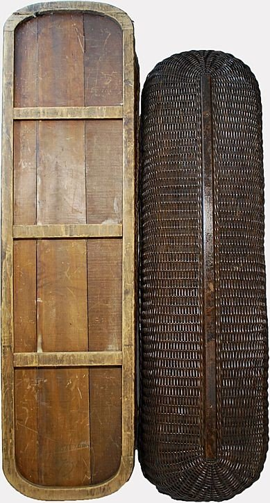 Wicker Coffin Casket 1890's Funeral Home Collectible - 4