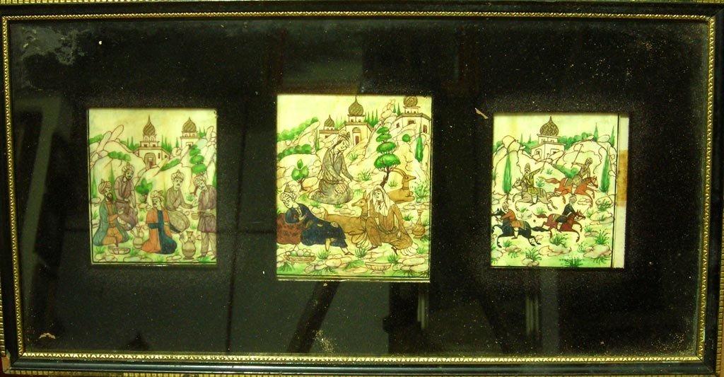 Amazing Original Art Persian Painting Ivory Gold Detail