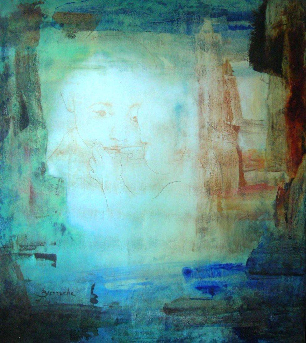 Jefferson Bianchi Original Listed Art Abstract, Materni