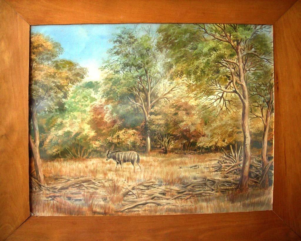 David Shepherd Listed Watercolor Original Art Wildlife
