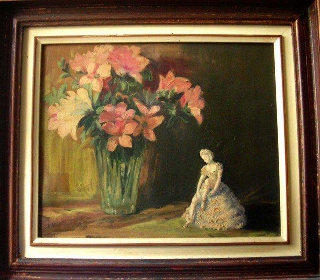 Louis Valtat Oil Painting Original Art Ballerina Flower