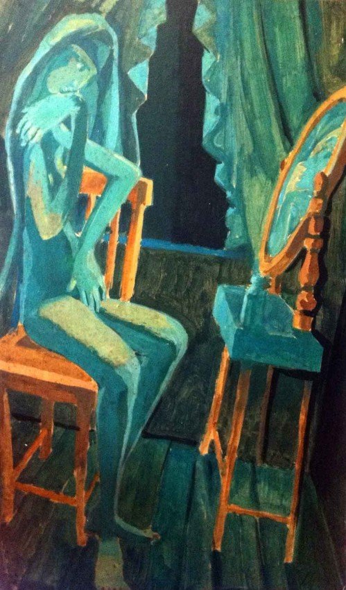 Alberto Burri Oil Painting Original Art The Mirror Abst