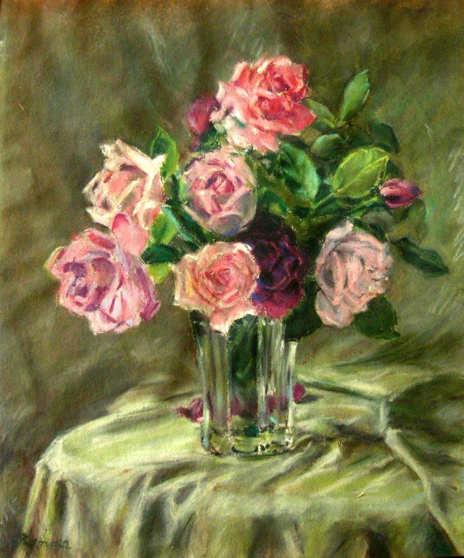 Magnificent Renoir Flowers in Vase Original Listed Arti