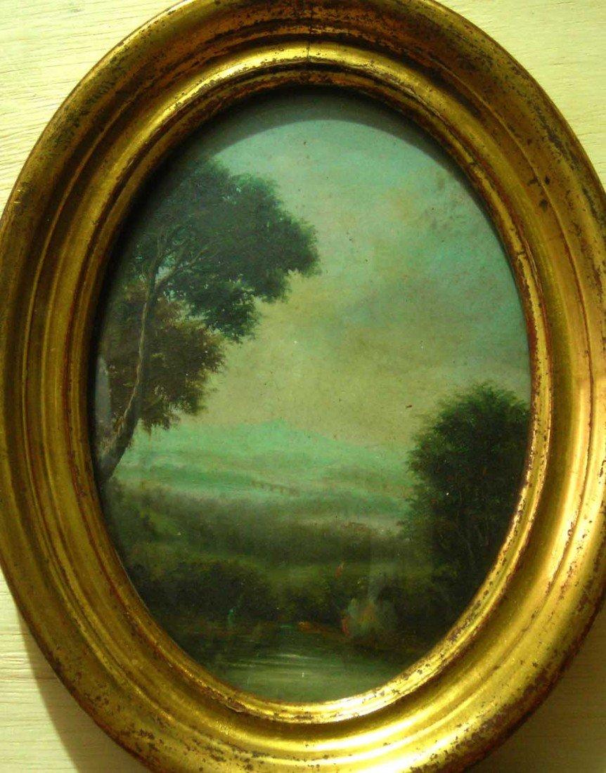 Pair of  Hubert Robert Oil Landscapes Original Art