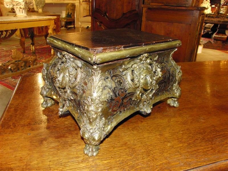 An 18th Century Boulle Style Table Pedestal