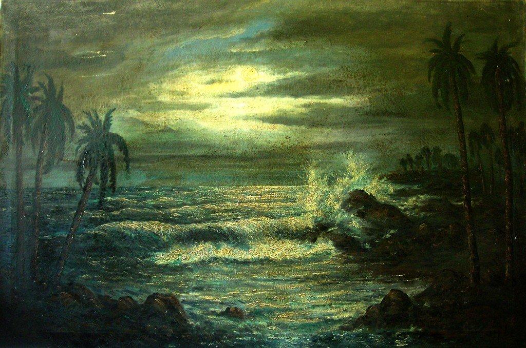 Carybe Oil Painting Original Art Brazilian Seascape