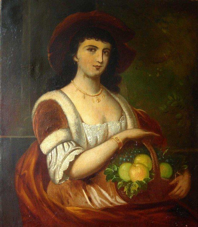 Frederic Bazille Oil Painting Original Art, Portrait