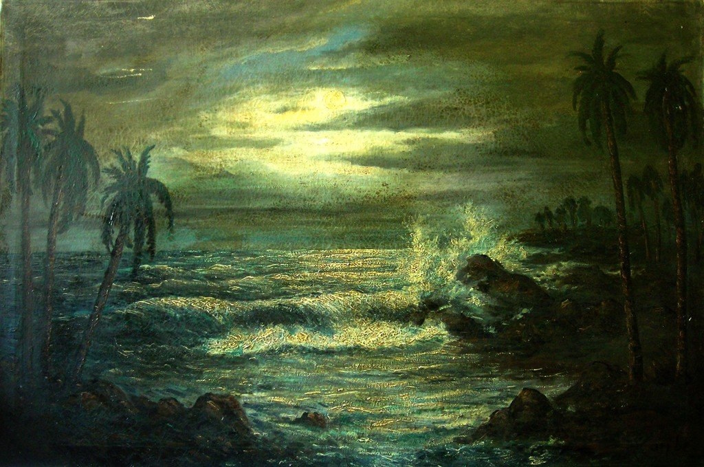 Carybe Oil Painting Original Art Brazilian Seascape