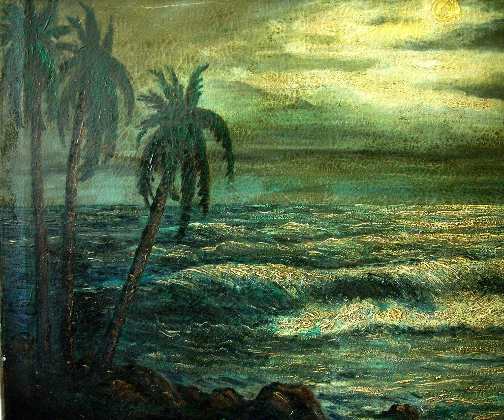 Carybe Oil Painting Original Art Brazilian Seascape - 2