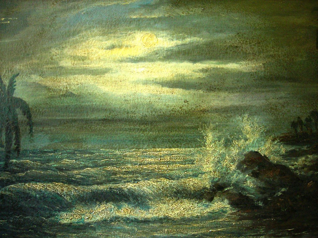 Carybe Oil Painting Original Art Brazilian Seascape - 3