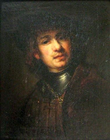 Original Amazing Rembrandt School Oil Painting Portrait