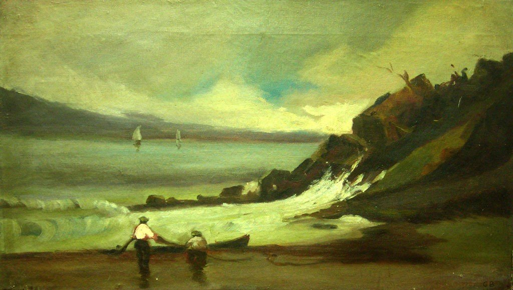 George Bellows Oil Painting Original Art Marine Listed