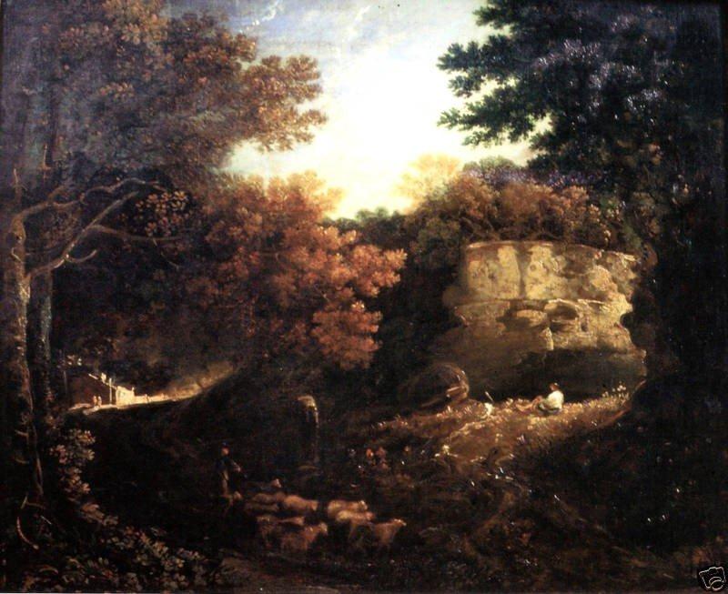 Magnificent Thomas Gainsborough Oil Painting, Landscape