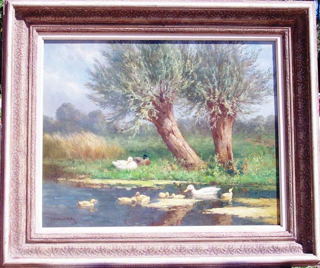 ARTZ Constant Oil Painting Original Ducks in the Pond