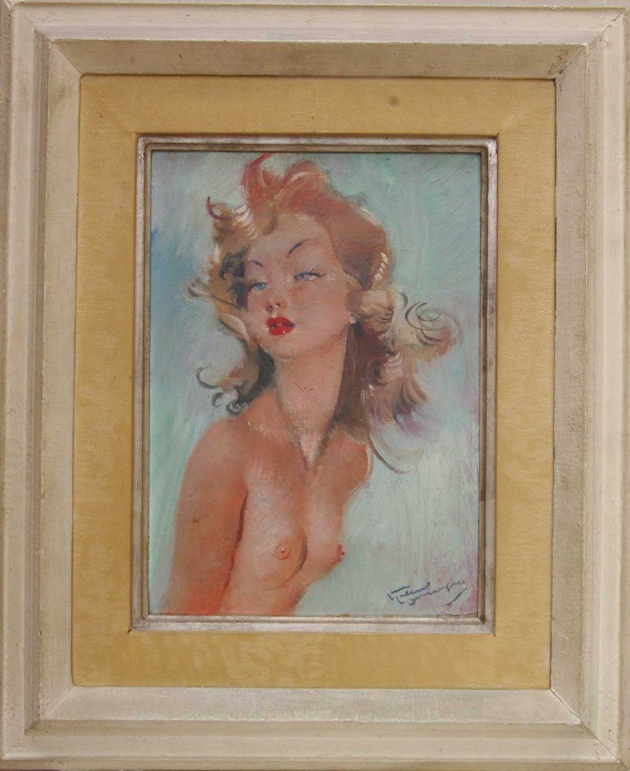 DOMERGUE Jean-Gabriel Oil Painting Original Art Nude