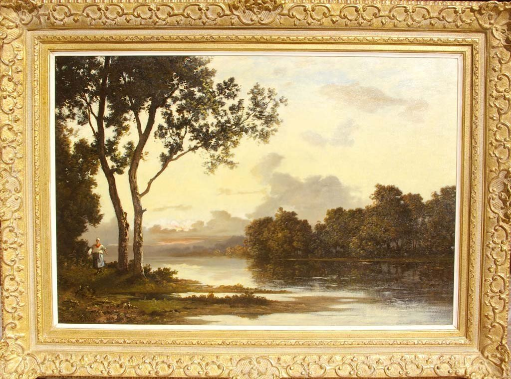 Richet Leon Oil Painting Original Art Landscape