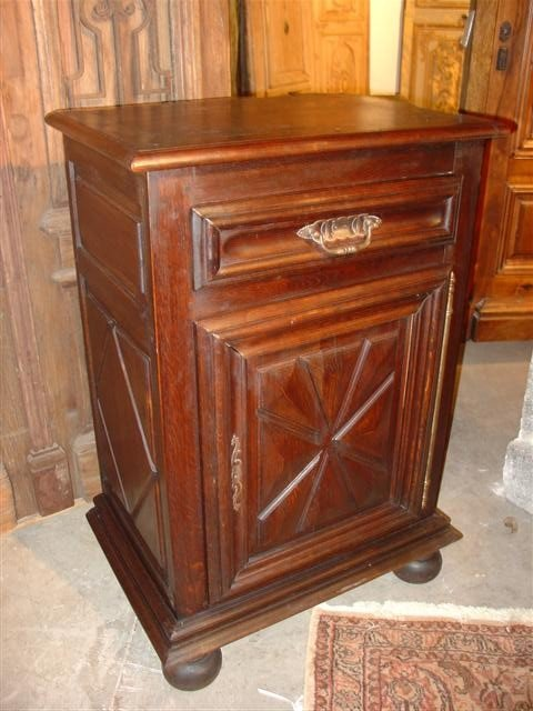 French Louis XIII Style Confiturier-Solid Oak, Circa 19