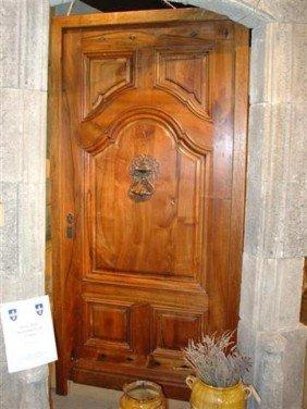 Beautiful Walnut Wood Door From France