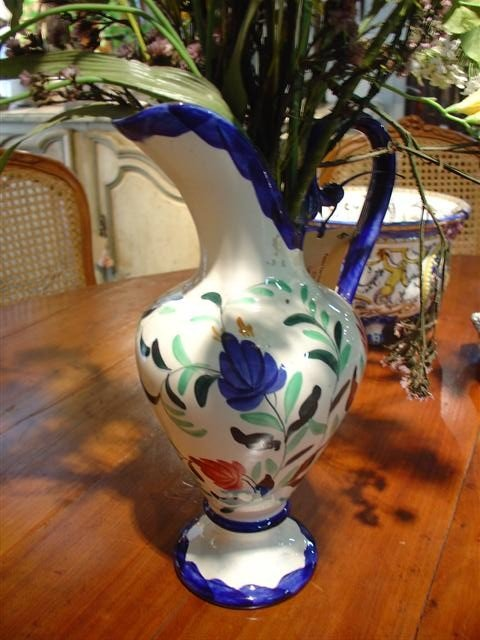 French Faience Pitcher