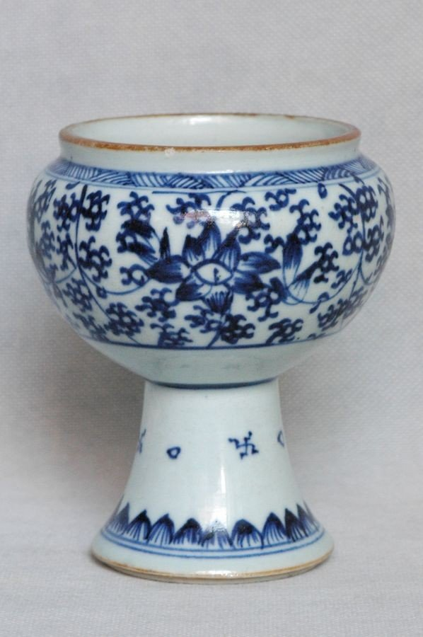 Chinese Qing Blue and White Porcelain Cup Kangxi , 17C