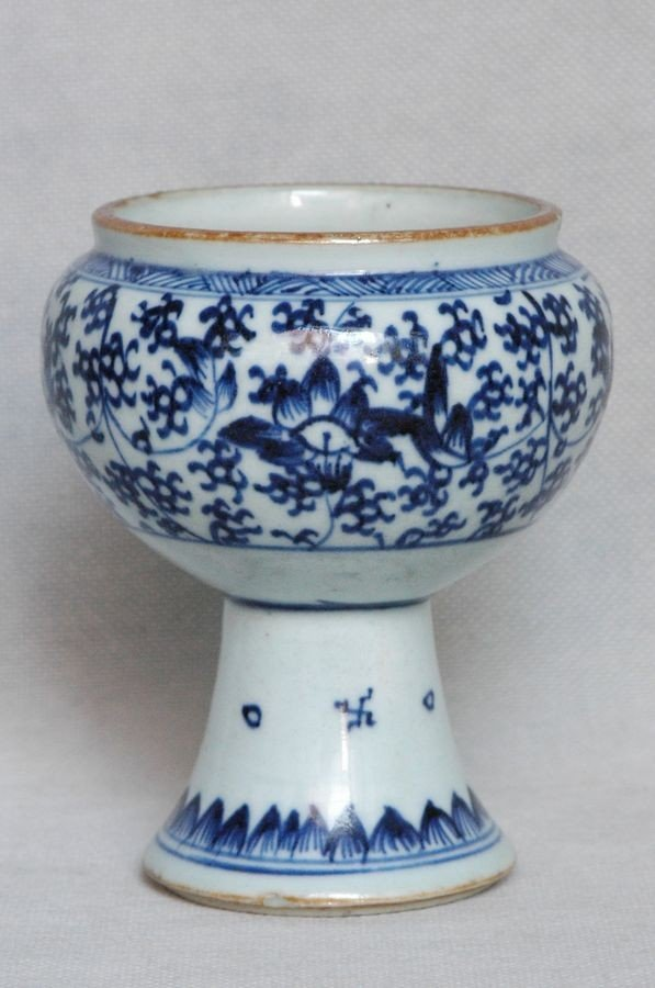 Chinese Qing Blue and White Porcelain Cup Kangxi , 17C - 2