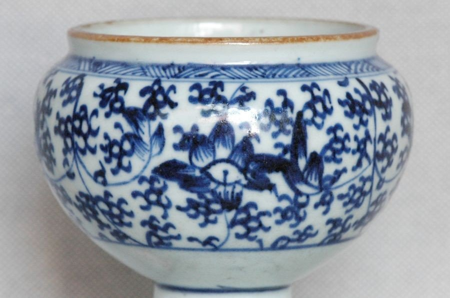 Chinese Qing Blue and White Porcelain Cup Kangxi , 17C - 5