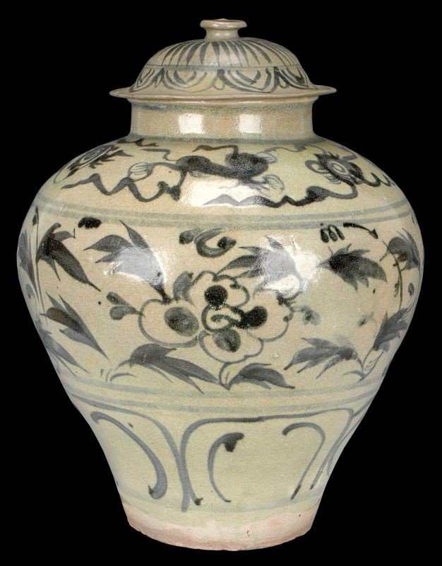 Masterpiece Chinese Yuan Blue and White Porcelain Jar O