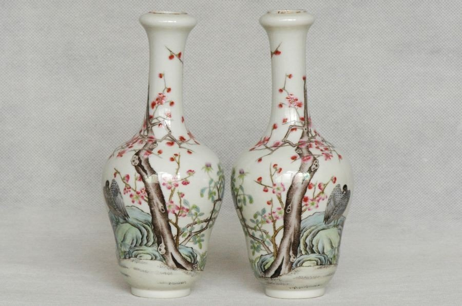 Masterpiece Pair of Chinese Qing Vase Xianfeng Mark & P