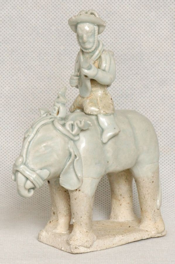 Masterpiece Chinese Song Qingbai Elephant w Rider , 100
