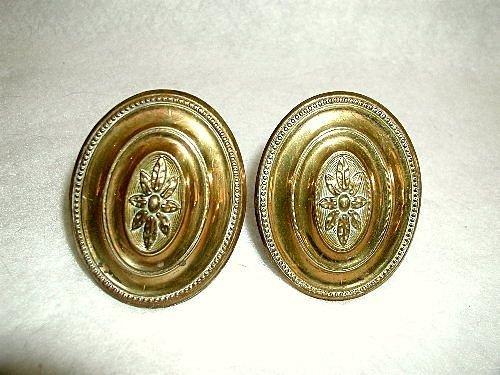 Finials Hooks Tiebacks Solid Brass England Early 1900's