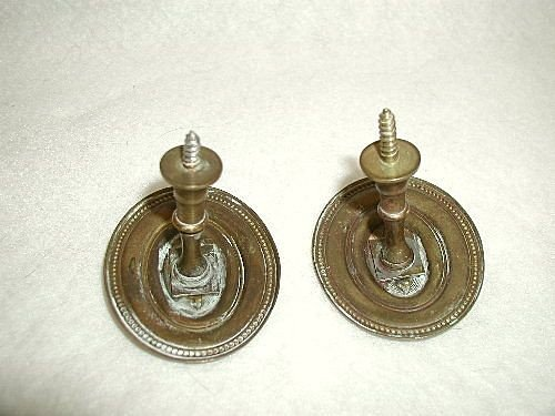 Finials Hooks Tiebacks Solid Brass England Early 1900's - 3
