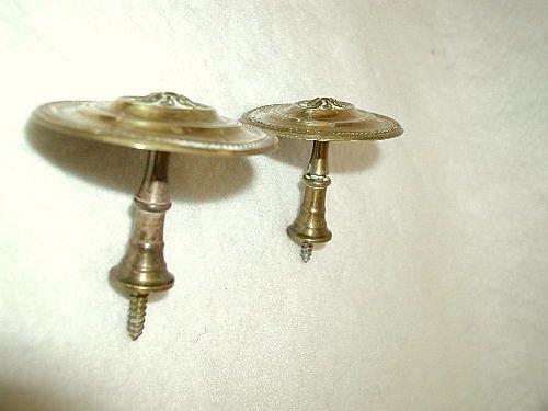Finials Hooks Tiebacks Solid Brass England Early 1900's - 4