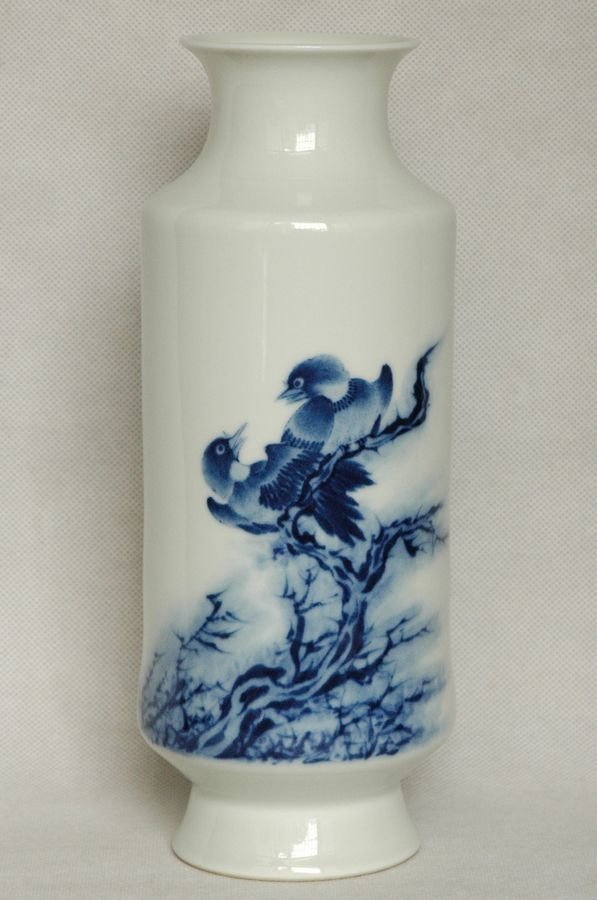 Masterpiece Chinese Blue and White Vase , 20C