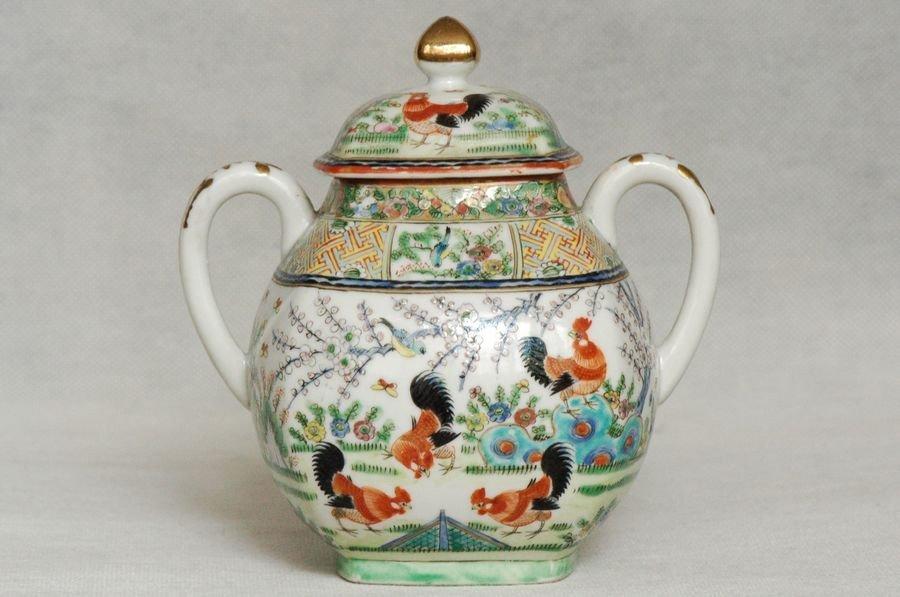 Chinese Famille Rose Porcelain Pot Republic Period