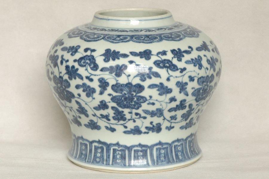 Chinese Qing Blue and White Vase Yongzheng Period , 18C