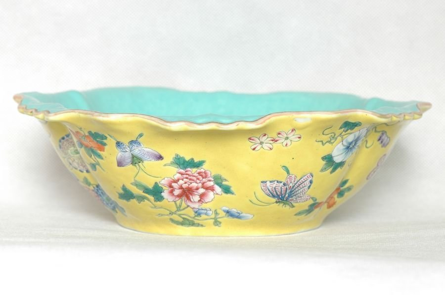 Chinese Butterfly Bowl Tongzhi Mark & Period