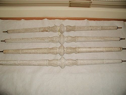 Plaster Rods Columns Italy 19th C threaded from buildin