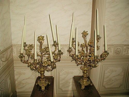 Bronze Candelabras Italy 19th Century Stunning