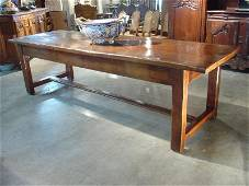 18th C. French Farm Table of Fruitwood and European Oak