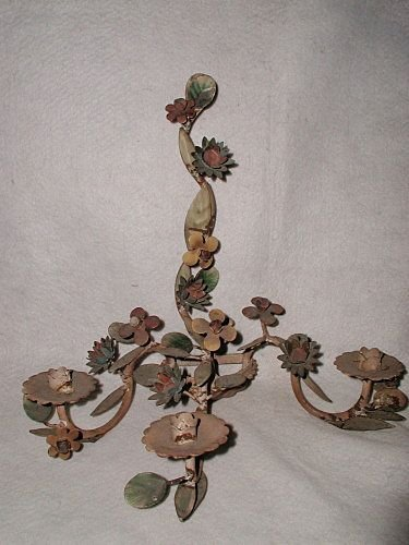 Italian Sconce Original Paint Early 1900's Gorgeous Col