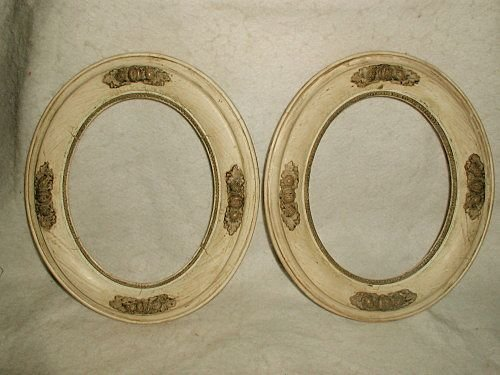 Italian carved frames acorn pair 19th century