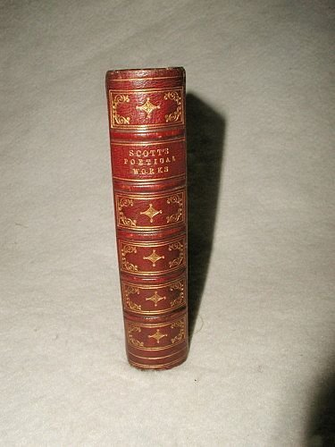 """Scott's Poetical Works"" Illustrated C.1877 Leather Bou"