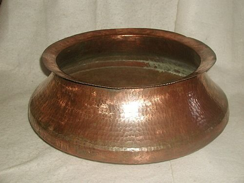 Scottish Copper Jardiniere Hand Forged Large C.19th Cen