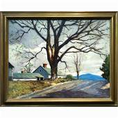 Vermont Landscape Oil Painting By Annabelle E. Williams