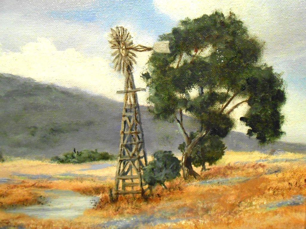 Arkansas Bluebonnet Landscape Oil Painting - 3