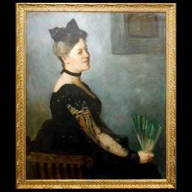 Francis Brooks Chadwick Oil Portrait 1924