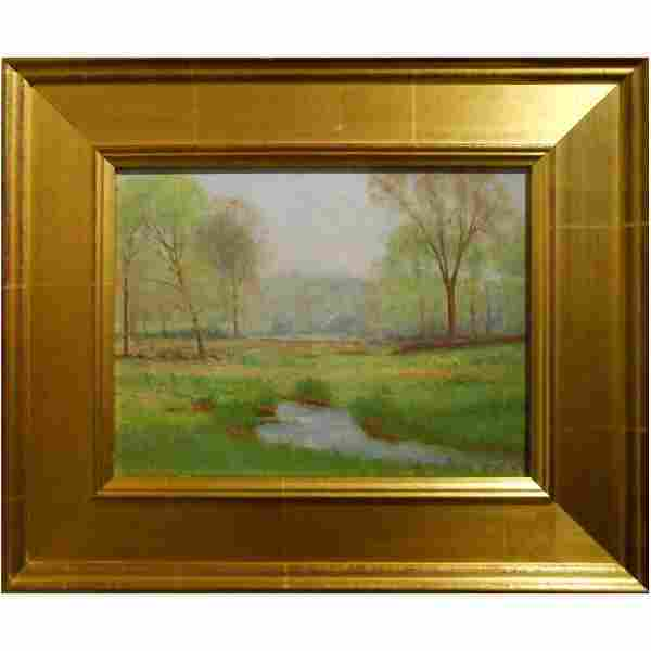 Joseph W. Jicha Spring Meadow Plein-Air Oil Painting