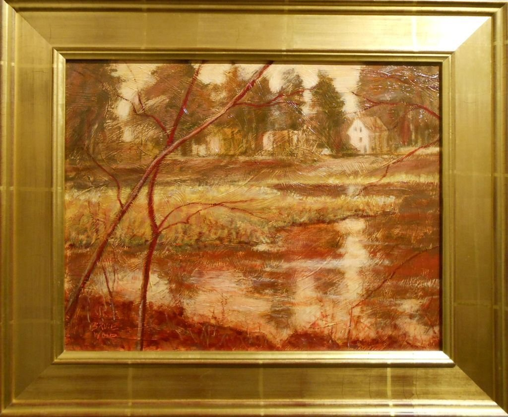 Contemporary Tonalist Oil Painting Of Mill Pond